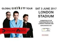 DEPECHE MODE - 2 Tickets - 3 June 2017, Queen Elizabeth Olympic Park, London