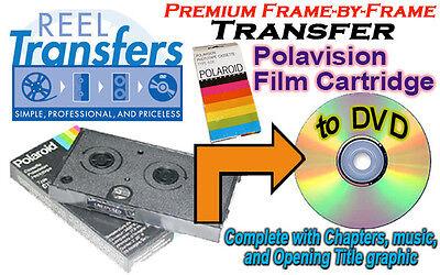Transfer Polaroid Polavision film cartridges to DVD (premium frame-by-frame)