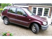 MERCEDES ML 320 ,1998, INTERIOR AS NEW, 11MTHS MOT, 1 OWNER, FSH, AUTOMATIC, PETROL