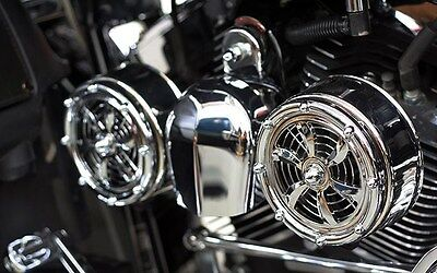 BD-320 Love Jugs Bullets Chrome Engine Cooling Fans for Harley Motorcycles