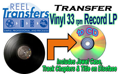 REEL TRANSFERS - convert vinyl LP to CD