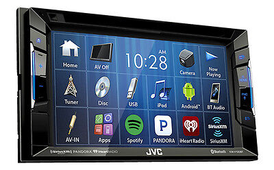 JVC KW-V130BT Double DIN BT In-Dash DVD/CD/AM/FM w/ 6.2
