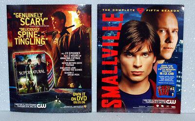 Smallville Fifth Sean/Supernatural DVD Promo Flyer