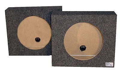 "Shallow Mount Subwoofer Speaker Enclosures 10"" Dual Sealed Pair Truck Boxes"