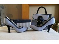 Ruby Shoo 'Jessica' size 7 with matching bag
