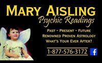 Canada renowned Psychic - openings available for one on one