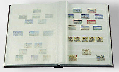 Stamp Collecting Album Lighthouse Stock book 6.5 x 9 16 White Pages Free US Post