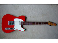 RED TELECASTER GUITAR. SHINE RED TELECASTER GUITAR WITH ROSEWOOD NECK