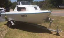 SeaSpray Half Cabin Cruiser with 50ph Mecury outboard Carine Stirling Area Preview