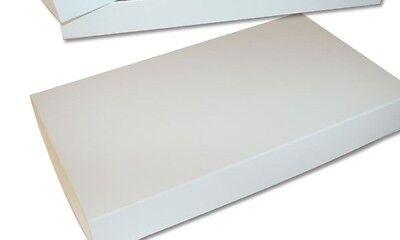 "100 Apparel Boxes White 15"" x 9 ½"" x 2"" Retail Merchandise Gift  2 Piece Lidded"