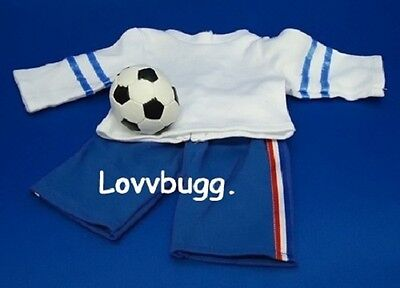 "Lovvbugg RWB Soccer With Ball 3pc Set for 18"" American Girl Doll Clothes"