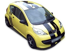 Peugeot 107 Sport full racing stripes graphics decals stickers