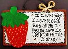 Wooden Strawberries Home Décor Plaques & Signs