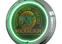 N-0278 Mexicana - Decoración Retro Neón Reloj Clock De Pared Neon Taller -  - ebay.es