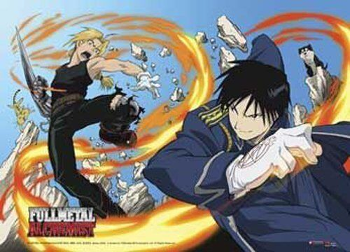 *NEW* Fullmetal Alchemist Ed vs Roy Fabric Poster