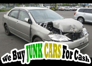 We give cash for Scrap cars