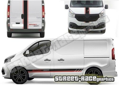 Opel VIVARO FULL 011 van racing stripes decals vinyl graphics Vauxhall
