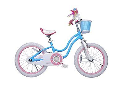 Girls Bike with Training Wheels and Basket Best Gifts for Girls. Blue 12
