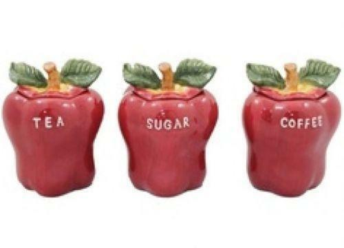 apple canisters for the kitchen apple kitchen canisters ebay 22909