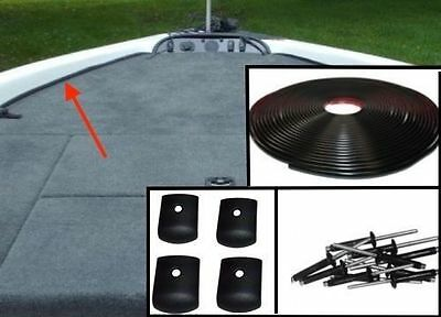 Self Adhesive Marine Carpet Trim Kit *5/8 X 30' +10 Rivets +4 End-Caps[Patented]