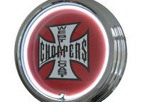 N-0250 West Coast Choppers - Neon Orologio Parete Officina -  - ebay.it