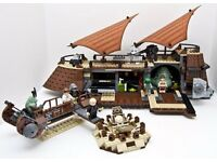 Lego 6210 Jabba's Sail Barge. Classic Star Wars set released in 2006. Instructions but NO BOX.