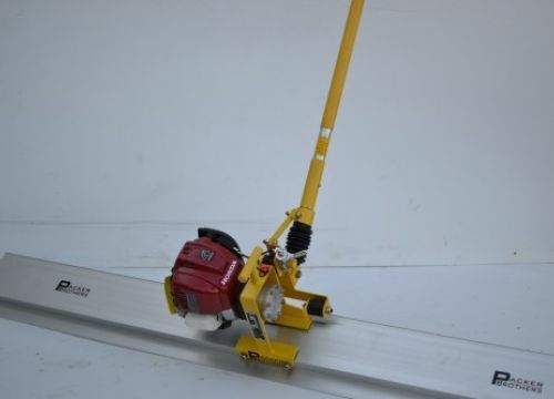 Packer Brothers power pole screed & vibrating bull float Honda: concrete cement