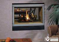 "EDVSTNM-B 40"" See Through gas fireplace (WINTER CLEARANCE)"
