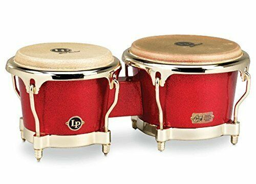 LP Galaxy Series Fiberglass Fausto Cuevas III Signature Bongos, Arena Red...