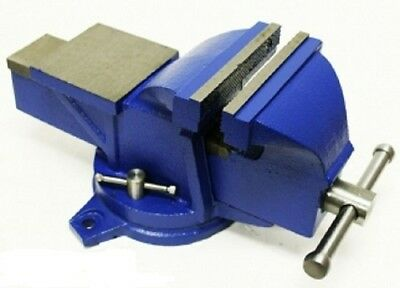 Bench Vise W Anvil Swivel 4in Locking Base Tabletop Clamp Heavy Duty Steel New