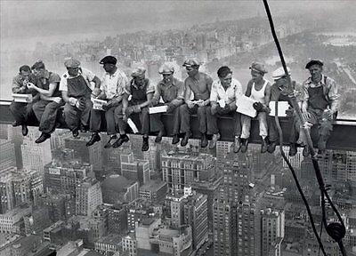 (Lunch On a Skyscraper New York City Poster Art Print Wall Art Home Decor Memorab)