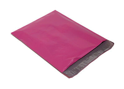 100 10x13 Size Hot Pink Envelopes Poly Mailers Couture Boutique Bags~