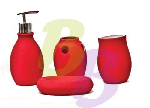 Red bathroom accessories ebay for Red bathroom accessories