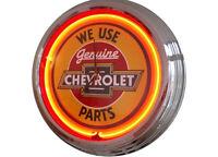 N-0233 Chevy Parts - Decoración Neón Reloj Clock De Pared Neon Taller -  - ebay.es