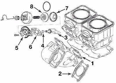 Sea Doo Exhaust Pipe Manifold Gasket Kit 650 657 717 720