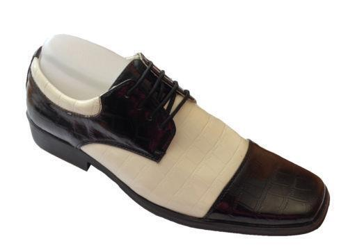 Black And White Mens Shoes Gangster