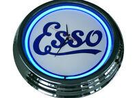 N-0214 Esso - Decoración Retro Neón Reloj Clock De Pared Neon Taller -  - ebay.es