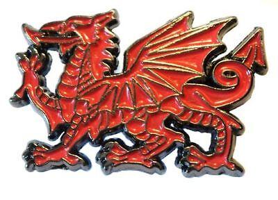 WELSH RED DRAGON WALES metal lapel Pin Badge FREE POSTAGE