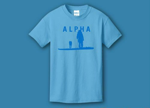 Alpha T-Shirt Prehistoric Wolf & Caveman Movie - Youth S M - Brand New & Rare!