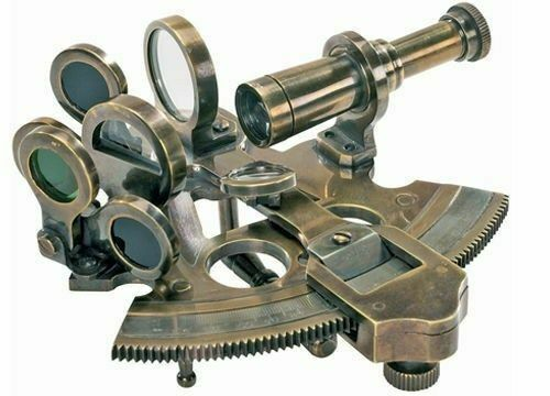 ANTIQUE REPRODUCTION Authentic Models  Pocket Sextant Used Ancient Medieval Knig