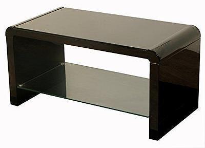 Couchtische Atlanta (Atlanta Black Gloss Modern Coffee Table with Glass Shelf Living Room Furniture )