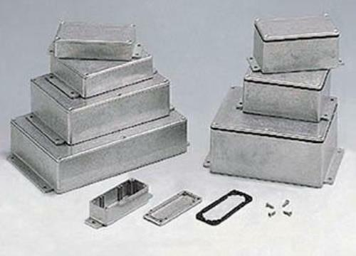"""Rectangular Flanged Aluminum Utility Chassis Box 6.73"""" X 4.76"""" X 4.17"""" 64-bs39mf"""