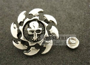 10Sets-Antique-Silver-Round-Skull-with-Rowel-RIVETS-Leather-Decoration-RV8219