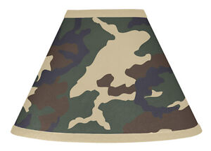 Sweet-Jojo-Designs-Lamp-Shade-for-Camo-Green-Military-Army-Baby-Kid-Bedding-Set
