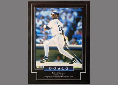 0885c80ab2 Ken Griffey Jr. GOALS Seattle Mariners Rare 1999 Inspirational POSTER