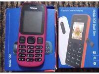 New Nokia 108 Dual Sim Phone + Used Pink Nokia 100 Mobile Phone