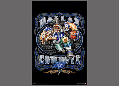 Dallas Cowboys GRINDING IT OUT SINCE 1960 NFL Football Theme Art POSTER (Nfl Theme)