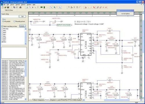 TinyCAD (Electrical Circuit Diagram CAD Software) for Windows only $3.99