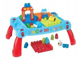 Mega Bloks First Builders Build 'n' Learn Table