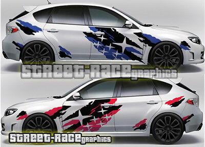 Subaru Impreza Rally Touring Car Racing Stripes Graphics - Car decals designnew design full car body stickers for ford focus golf mg